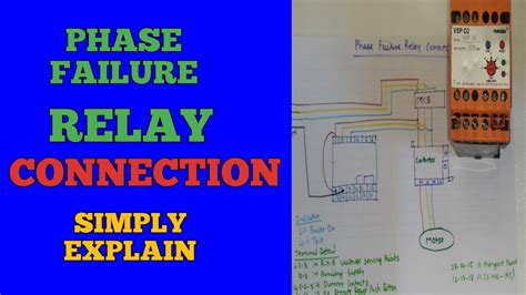 phase failure relay connection installation in motor starter youtube