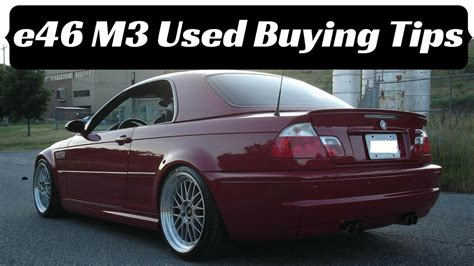 Used Car Buying Tips E46 Bmw M3 (2001-2006)