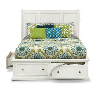 hanover king storage bed white american signature furniture