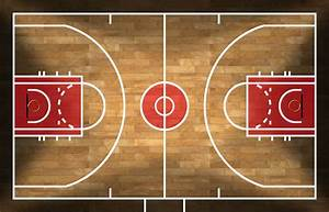 A Detailed Diagram Of The Basketball Court