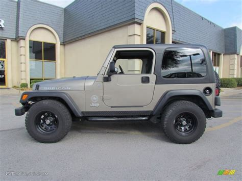 jeep metallic 2004 light khaki metallic jeep wrangler rubicon 4x4
