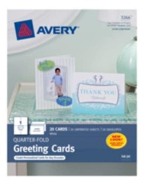 avery quarter fold white matte greeting cards