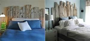 Tete De Lit Bois Flotté : tete lit bois flotte decoration romantique accueil design et mobilier ~ Teatrodelosmanantiales.com Idées de Décoration