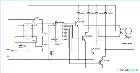 Simple Stepper Motor Driver Circuit Diagram Using Timer
