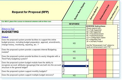 Rfp Requirements Template by Request For Rfp Templates Software Requirement
