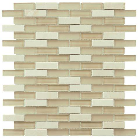 home depot merola subway tile merola tile tessera subway sandstone 11 3 4 in x 11 3 4