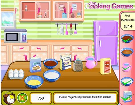 jeux de cuisine de gateau jeu cuisine un gâteau au chocolat gratuit en ligne