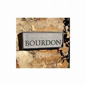 Plaque De Maison : plaque de maison en pierre naturelle personnalis e avec votre nom ~ Teatrodelosmanantiales.com Idées de Décoration