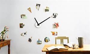 Wanduhr Mit Bildern : anleitung gro e wanduhr selbst gestalten diy info ~ Watch28wear.com Haus und Dekorationen