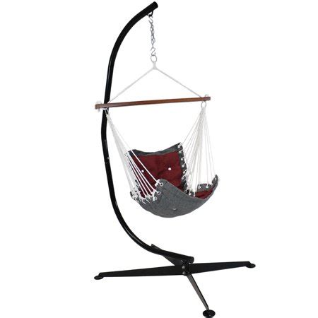 Hammock Chair C Stand by Sunnydaze Tufted Hanging Rope Hammock Chair With