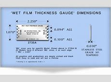 How to Use a 'Wet Film Thickness' Gauge