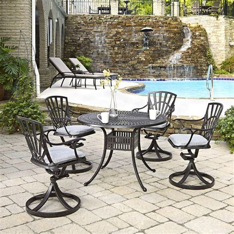 home styles largo 42 in 5 patio dining set with