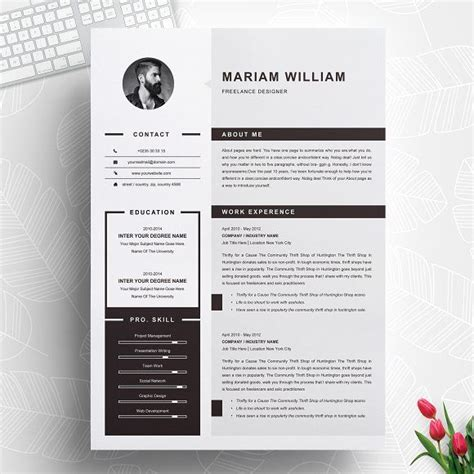 Cv Template Ideas by Modern Clean Resume Cv Template By Resumeinventor On