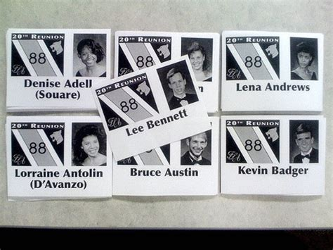 high school reunion gifts class reunion name badges flickr photo