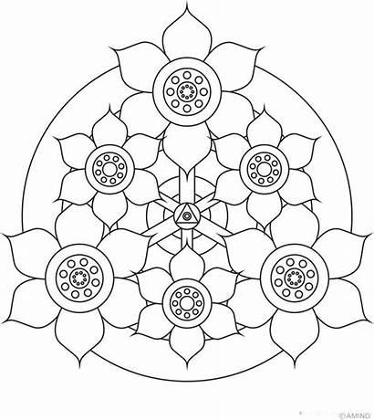 Mandala Coloring Pages Mandalas Easy Simple