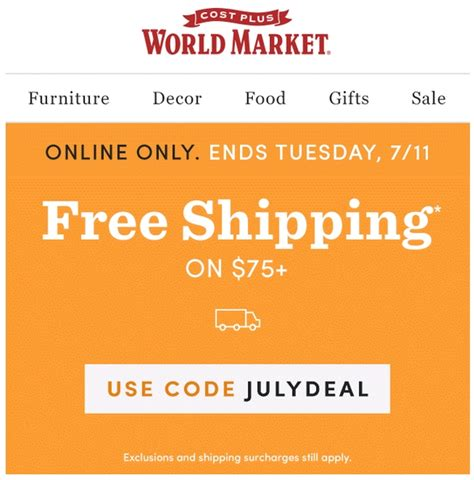 ls plus free shipping code 10 off cost plus world market coupon code 2017 promo