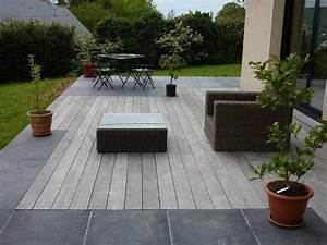 nous proposons des dallages de pierre naturelle et des With amenagement piscine en bois 7 creation terrasse nantes loire atlantique terrasse de