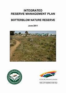 INTEGRATED RESERVE MANAGEMENT PLAN BOTTERBLOM NATURE RESERVE