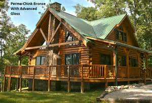 log cabin homes interior perma exterior stain color gallery