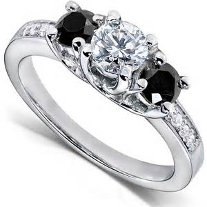 black and white engagement rings black ring - Black And White Wedding Rings