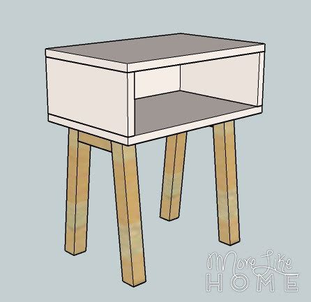 Simple Nightstand by White Simple Modern Nightstand Diy Projects