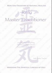 Personalised Complete Set Reiki Certificates Templates X4   Level 2    Master