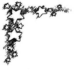 Stars Corner Border Clip Art
