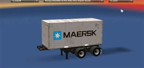 Standalone 20ft 2 Axles Container Trailer mod - American ...