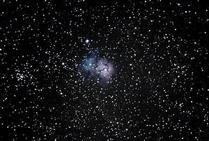 M20 and M21 Trifid Nebula Open Cluster