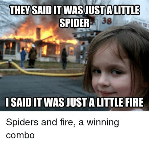Spider Fire Alarm Meme - they a little spider iisaiditwasjustalittle fire spiders
