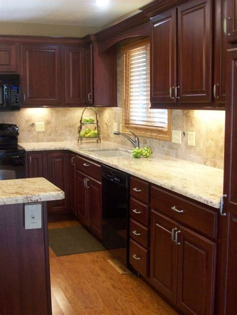 kitchen cabinets granite cherry cabinets houzz 3002