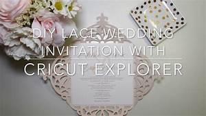 diy lace wedding invitation using cricut explore youtube With cricut wedding invitations youtube
