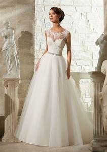 Lace appliques on soft tulle morilee wedding dress style for Wedding dresses delaware