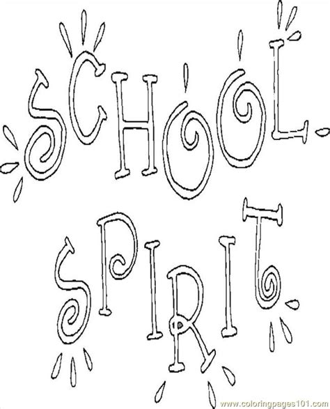 school spirit coloring page  school coloring pages coloringpagescom