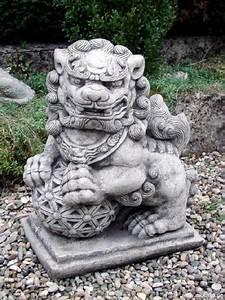 Feuerschalen Ethanol Garten : tempelw chter foo dog aus massivem steinguss gartenfigur ~ Michelbontemps.com Haus und Dekorationen
