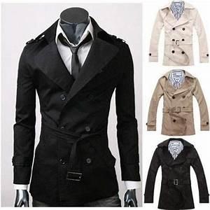 Trench Coat Homme Long : trench homme style anglais classique mi long elegant beige ~ Nature-et-papiers.com Idées de Décoration