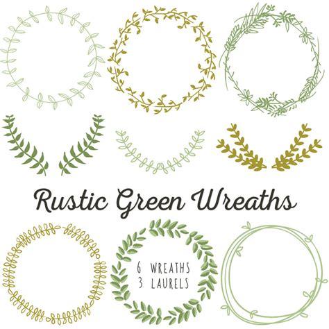 laurel wreath clip art instant  diy wedding