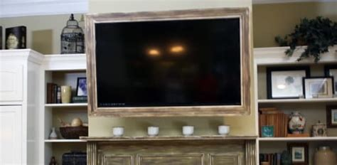 build  custom tv picture frame todays homeowner