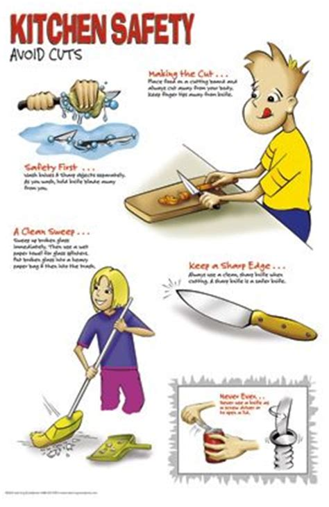kitchen safety worksheets kitchen safety poster set