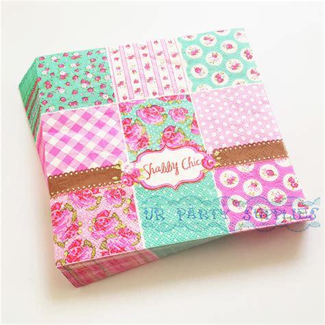 shabby chic paper napkins aliexpress com buy 200pcs shabby chic paper napkin flowers floral rose decoupage napkins