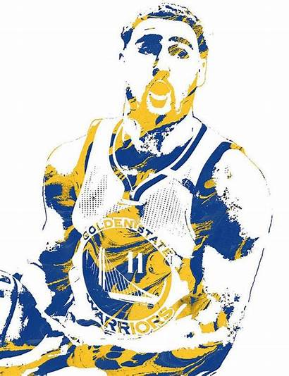 Thompson Klay Warriors Golden State Pixel Clipart