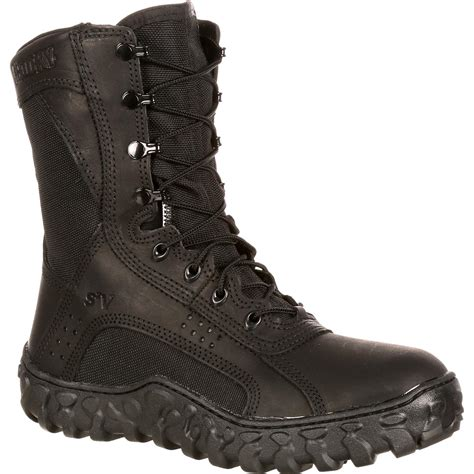 American-Made Black Military Boots, Rocky S2V FQ0000102