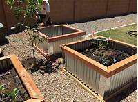 raised garden boxes DIY Raised Garden Beds with Corrugated Metal
