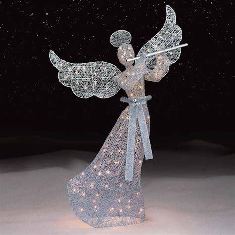 silver christmas angel   clear lightssears
