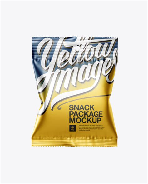 A high quality snack pack packaging mockup to showcase chips packaging, snack pack packaging, crackers, popcorn, gumballs, candies, pappar, pops and many more. Matte Metallic Snack Package Mockup - Front View in Flow ...