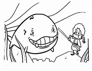 Cartoon Of Jonah And The Whale Coloring Page Netart