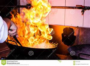 Fire Cooking Stock Photo