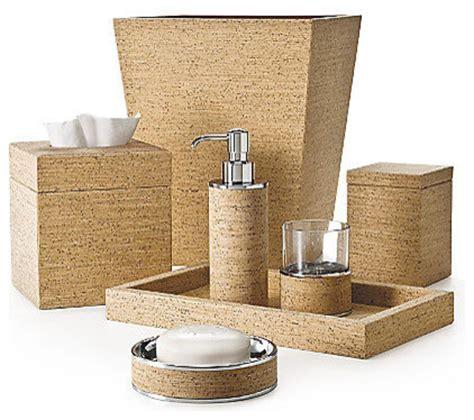 Bathroom Spa Accessories by Labrazel Cork Bath Accessories Contemporary Bathroom