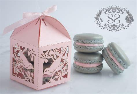 Wedding Favors Macaron Favor Song Bird Wedding Favor Box And