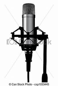 Stock Illustrations of microphone - Illustration of a ...
